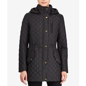 New! RALPH LAUREN Hooded Quilted Coat